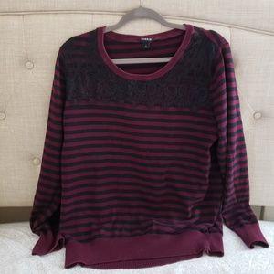 Torrid lace striped sweater size 2X